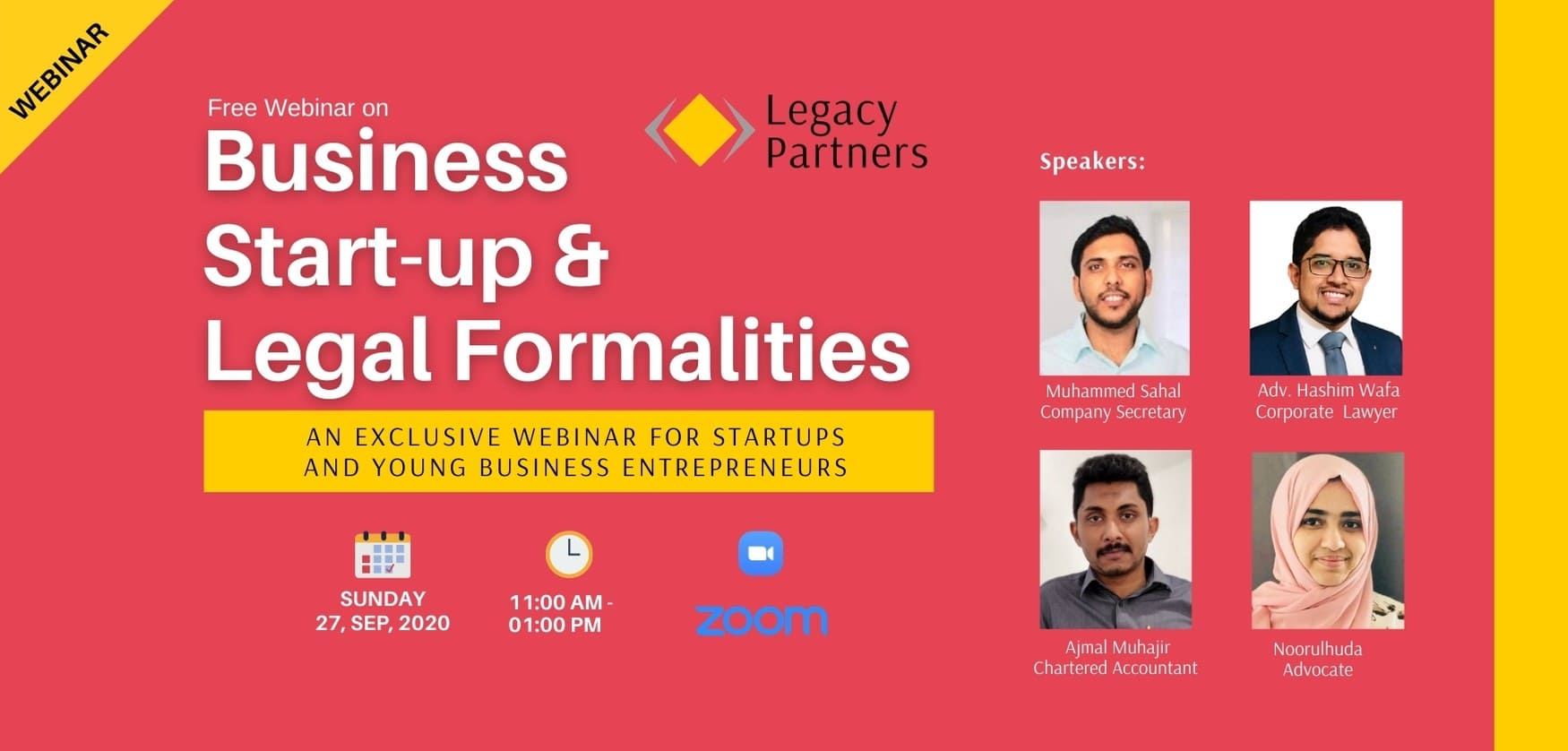 Free Webinar on Business Startup & Legal Formalities