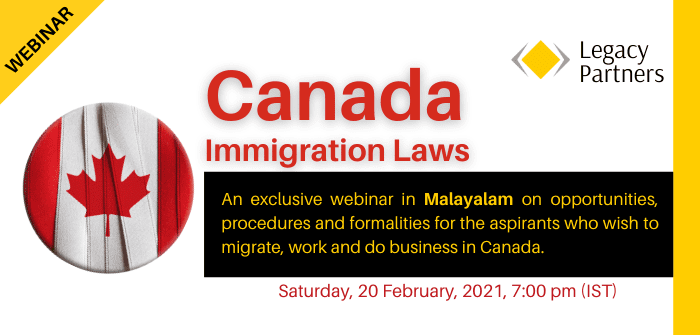 Webinar on Canada Immigration Laws